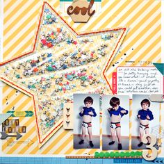The One with December 2013 American Crafts Layouts