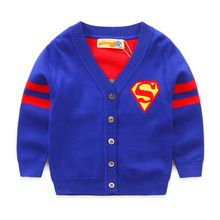2016 New Superman Thick Warm Girl Boys Christmas Sweaters For Kids Sweater Knitting Patterns For Children's Sweaters Cardigan(China (Mainland))