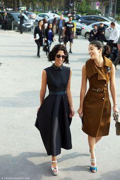 cool much?! #YasminSewell & #CarolineIssa kickin it in Paris.