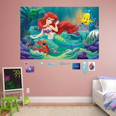 Disney   The Little Mermaid Peel And Stick Wall Decal