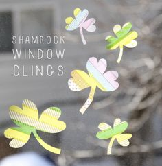 DIY SHAMROCK WINDOW CLINGS — And We Play | DIY For Kids