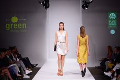 PURE Green Apparel dress with Nine to Five accessories at Grenshowroom Salonshow Mercedes-Benz Fashion Week