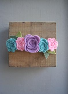 Pastel diadema flor fieltro corona-bebé/niño/niño/adulto