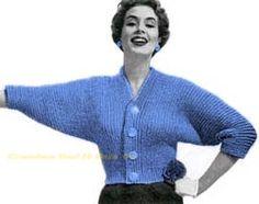 CROCHET PATTERN Vintage Pattern Button Up Sweater PDF