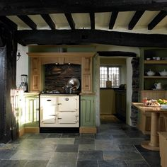 Slate Kitchen Floor | Slate Kitchen Flooring | Period Country Kitchen |  Beautiful Kitchens .