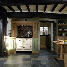 Slate Kitchen Floor | Slate kitchen flooring | Period country kitchen | Beautiful Kitchens ...