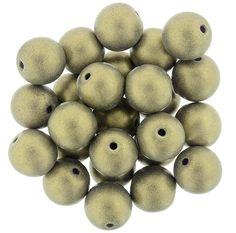 5-08-MSG2051 Round Beads 8mm : Sueded Gold Tanzanite