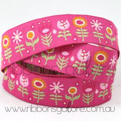 pink with a little lime ribbon  #ribbonsgalore