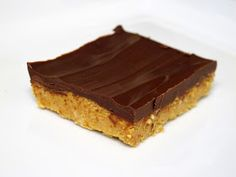 I Believe I Can Fry: Dessert in 10 Minutes - No-Bake Chocolate Peanut Butter Bars