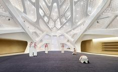 Zaha Hadid Architects' new energy research centre is fit for a king Zaha Hadid Buildings, Zaha Hadid Architecture, Beautiful Architecture, Architecture Details, Interior Architecture, Interior Design, Riad, Mall Design, Research Centre