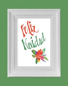 Feliz Navidad, Christmas printable art, wall art, holiday décor, holiday decoration, instant download, printablestyles by PrintableStyles on Etsy