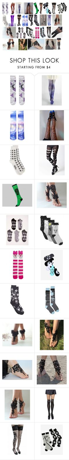 """""""Hosiery and Socks #2"""" by switchback13 on Polyvore featuring Forever 21, Lirika Matoshi, Alexander McQueen, Torrid, Disney and WithChic"""