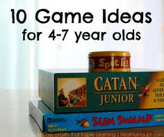 10 Game Ideas for 4-7 year olds