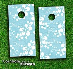 Hawaiian Floral Skin Set For A Pair Of Cornhole by TheSkinDudes