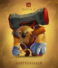 earthshaker chibi dota 2 wallpaper