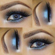 sky blue eye makeup #eye #makeup #eyemakeup
