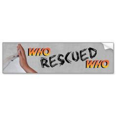 The Adventure Of Who Rescued Who Bumper Sticker