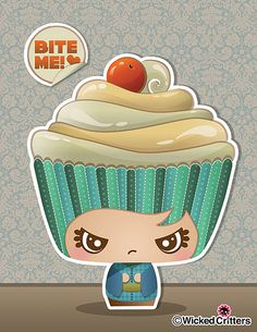 Kawaii Cupcake. Not sure if this is a show or something but this is adorable.