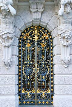 Decorated entrance door