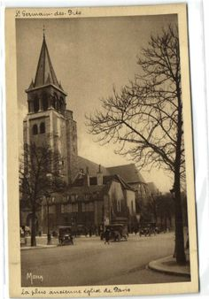 postcard France Paris La plus ancienne eglise, €1.99