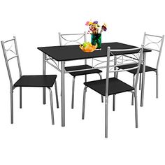 Compact Dining Table Chair Folding 5 Pcs Kitchen Butterfly Set Steel Furniture | Compact dining table Steel furniture and Compact  sc 1 st  Pinterest & Compact Dining Table Chair Folding 5 Pcs Kitchen Butterfly Set Steel ...