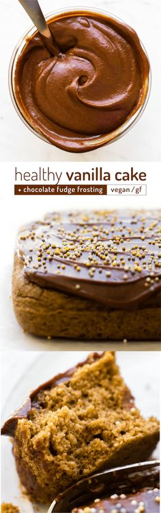 This 5-ingredient party-perfect vanilla cake recipe is healthy disguised as decadent underneath a luscious layer of sugar-free chocolate fudge frosting!