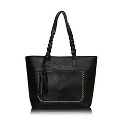 2017 Large Capacity Women Bags Shoulder Tote Bags bolsos New Women Messenger Bags With Tassel Famous Designers Leather Handbags - black, Beautiful bag Like and share if you think it`s fantastic! Visit our store Big Tote Bags, Womens Tote Bags, Women Bags, Handbags On Sale, Tote Handbags, Designer Leather Handbags, Shoulder Handbags, Shoulder Bags, Fashion Handbags