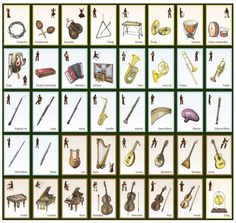 Hudební nástroje | Didaktická pomůcka NOVADIDA Calendar, Holiday Decor, School, Bassoon, Carnavals, Life Planner