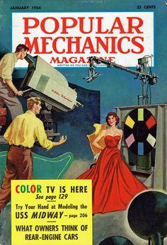Popular Mechanics (Jan. 1954) — COLOR TV is here!