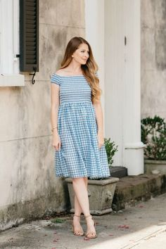 Blue Gingham Dress / Charleston, SC / Summer Style / Fashion / Outfit Ideas