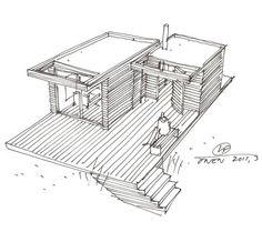 Sauna House by add . Sauna House, Sauna Room, Office Pool, Perspective Sketch, Steam Bath, Backyard Buildings, Interior Rendering, Western Red Cedar, Pool Houses