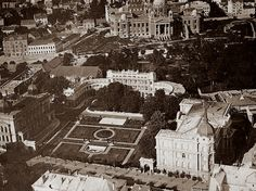 Belgrade in 1940 - The Old and New Royal Palace with the Parliament in the background, Serbia