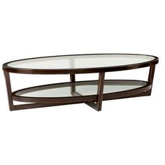 Bernhardt Occasional Zola Oval Cocktail Table