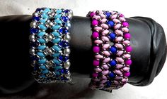 O-Duo Bracelet beaded by Sylvia Muhlmann. Beautiful colors!! Thank you for sharing!