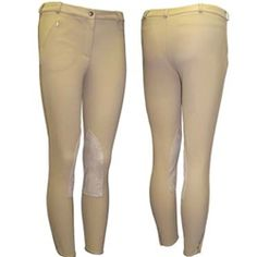 """Women's Tuffrider Low Rise Breech - Light Tan (Size 28) - $60 - This front zip knee patch riding breech sits lower on the waist for improved comfort.  The rise on these breeches in about 1.5"""" less than the regular rise breeches.  *92% polyester, 8% spandex"""