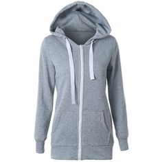 16.73$  Buy now - http://diioh.justgood.pw/go.php?t=199143503 - Casual Drawstring Long Sleeve Zipper Up Hoodie 16.73$