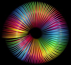 Rainbow slinky effect