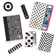 an eternal classic. show the world how much you love a black and white color pairing with one of our new tech cases, now available at Target Style! #dabneyleetech #dabneyleextarget #targetstyle http://www.dabneylee.com/dabney-lee-target/