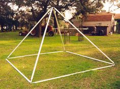 "Make a pyramid Playhouse for Pesach: Base 84"" (x4) Sides 79.5"" (x4) Height…"