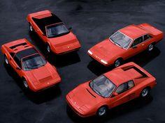 Ferrari line-up circa 1986 - Testarossa 412i 328 GTS Mondial