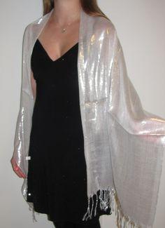 white dressy shawl wrap