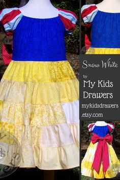 The fairest of them all!  This very special Snow White dress This one of a kind dress will be available 10-14, 7:30 PM CST. www.mykidsdrawers.etsy.com #MyKidsDrawers.