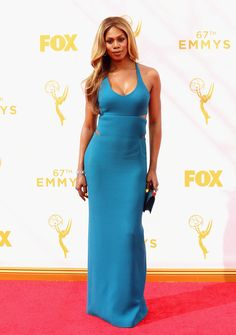 Laverne Cox on the Emmys red carpet