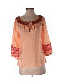 Check it out—Irving & Fine for Lucky Brand 3/4 Sleeve Silk Top for $20.99 at thredUP!