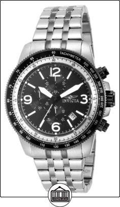 Invicta Invicta Specialty 15143 - Reloj cronógrafo de cuarzo para hombre, correa de acero inoxidable color plateado (agujas luminiscentes, cronómetro) de  ✿ Relojes para hombre - (Gama media/alta) ✿