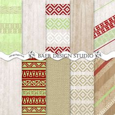 These rustic wood backgrounds with Aztec patterns are great for Christmas photo cards!