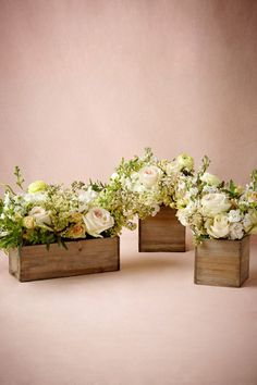 Wooden Box Planters - or something like this.  This could be easy right?  If I'm being honest with myself, I will never get around to making these.