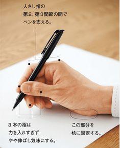 正しいペンの持ち方について調べてみた  |  ペン字いんすとーる