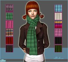 New scarves available for both genders and all ages except for toddlers. Enjoy!  Found in TSR Category 'Sims 2 Downloads'