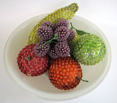 Vintage Sequined Fruit Kitsch Beaded by nanascottagehouse on Etsy